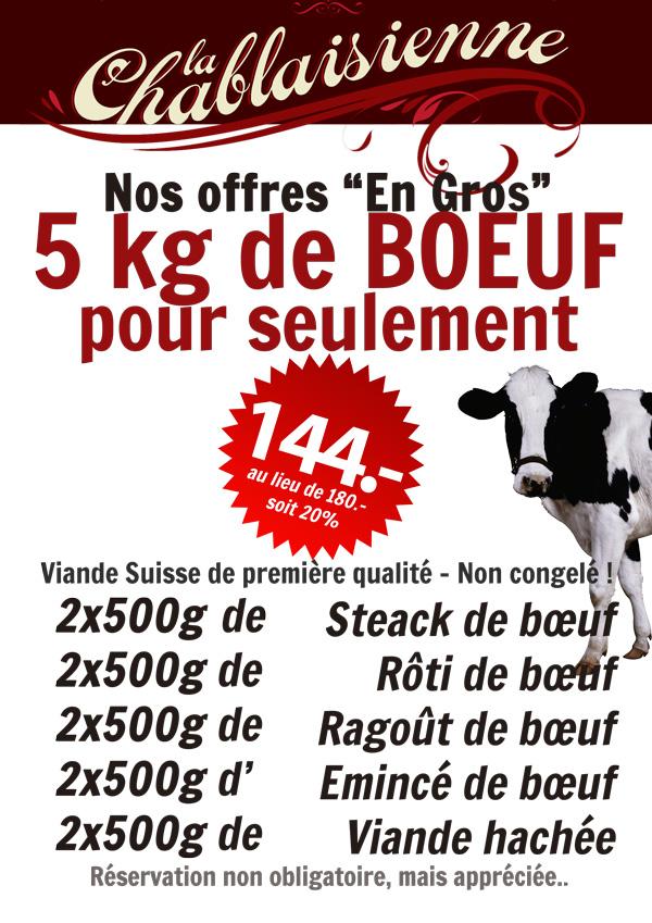 Offre de bœuf en gros